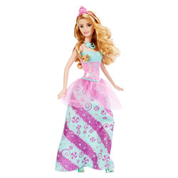 Barbie Princesse bonbons chatain