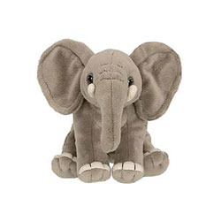 Peluche de la jungle 14 cm éléphant