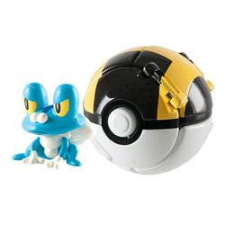 Pokemon throw'n pop pokéball - Hyperball avec pokémon eau Grenousse