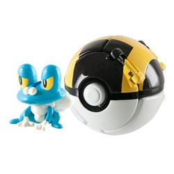 Pokemon throw'n pop pokéball - Hyperball avec pokémon eau Grenousse