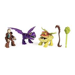 Figurine Dragon et son Dresseur : Valka, Baby gronckle et Scuttleclaw