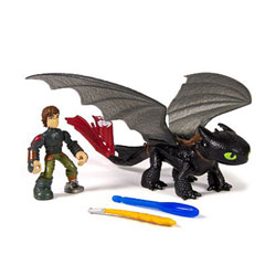 Figurine Dragon et son Dresseur : Harold et Croc Mou