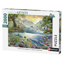 Puzzle 2000P Nathan Grand Le paradis des dauphins