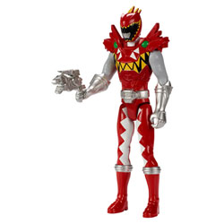 Figurine Géante 30cm Power Rangers rouge Trex super charge red ranger