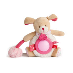 Veilleuse fraise lovely chien pompon rose