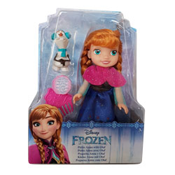 Poupée Reine des Neiges 15cm Anna & Olaf
