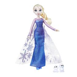Poupée Reine des Neiges magie des aurores boréales Elsa & Snowgie