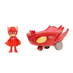 Véhicule Pyjamasques avec figurine Amaya Bibou rouge