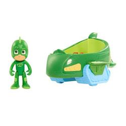 Véhicule Pyjamasques avec figurine Greg Gluglu vert