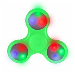 Hand Spinner lumineux LED Vert