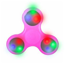 Hand Spinner lumineux LED Rose