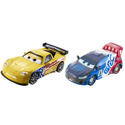 Cars - Pack 2 Véhicules Raoul CaRoule et Jeff Gorvette