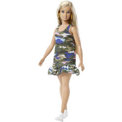 Barbie Fashionistas n°94 - Blonde robe camouflage