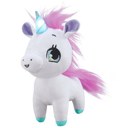 Peluche licorne Magic Kiss 25 cm rose