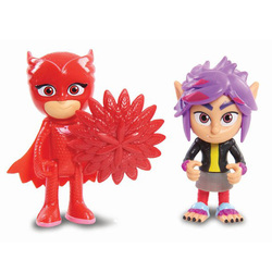 Pyjamasques-Coffret 2 figurines Bibou et RIP