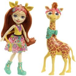 Enchantimals-Balade au zoo girafe et poupée Pawl