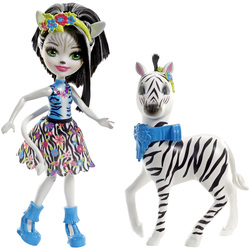 Enchantimals-Balade au zoo zèbre et poupée Hoofette