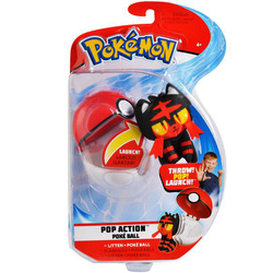 Pokémon-Lanceur Pokéball et peluche Flamiaou