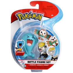 Pokemon-Pack 3 figurines Wobbuffet Jangmo-o et Rowlet
