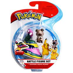 Figurines Pokémon Grotadmorv d'Alola, Pikachu et Rocabot