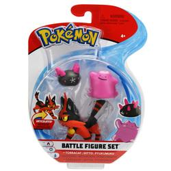 Pokemon-Pack 3 figurines Torracat Ditto et Pyukumuku