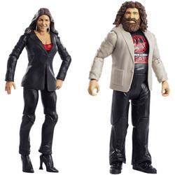 Coffret de 2 figurines de catch Stéphanie Mc Mahon et Mick Foley 15 cm - WWE