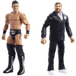 WWE-Coffret de 2 figurines de catch Daniel Bryan et The Miz 15 cm