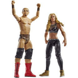 WWE-Coffret de 2 figurines de catch James Ellsworth et Carmella 15 cm