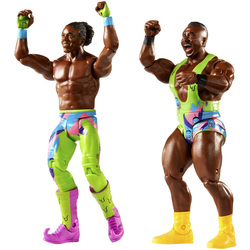 WWE-Coffret de 2 figurines de catch Xavier Woods et Big E 15 cm