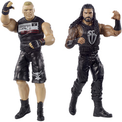 WWE-Coffret de 2 figurines de catch Brock Lesnar et Roman Reigns 15 cm