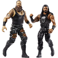 WWE-Coffret de 2 figurines de catch Braun Strowman et Roman Reigns 15 cm