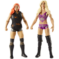 Coffret de 2 figurines de catch Becky Lynch et Charlotte Flair 15 cm - WWE