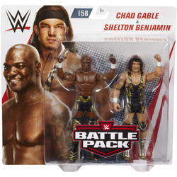 WWE-Coffret de 2 figurines de catch Chad Gable et Shelton Benjamin 15 cm