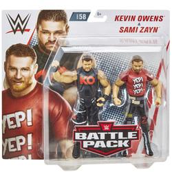 WWE-Coffret de 2 figurines de catch Kevin Owens et Sami Zayn 15 cm