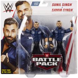 WWE-Coffret de 2 figurines de catch Sunil et Samir Singh 15 cm