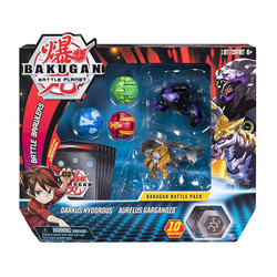 Figurines Bakugan Battle Planet Pack - Darkus Hydorous et Aurelus Garganoid