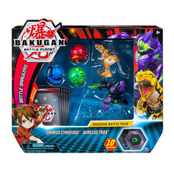 Figurines Bakugan Battle Planet Pack - Darkus Cyndeous et Aurelus Trox