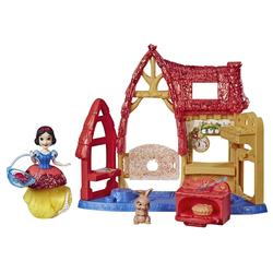 Mini-poupée Blanche-Neige 8 cm et son décor pailleté - Disney Princesses