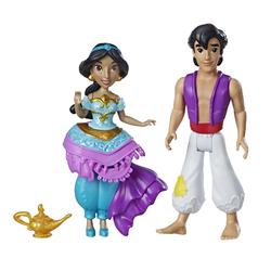 Mini-poupées Jasmine et Aladdin 8 cm - Disney Princesses