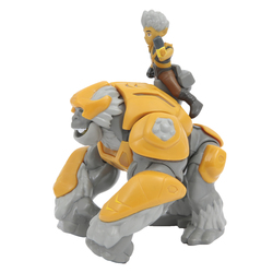 Figurines Gormiti Hyperbeast avec figurine de 7 cm Gorok et Trek