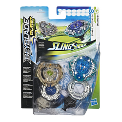 Toupies Beyblade Pack Duel Stone-X Quetziko Q4 et Engaard E4 - Beyblade Burst Turbo Slingshock