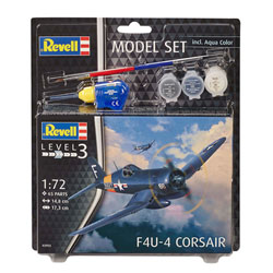 Maquette Avion F4U-4 Corsair avec peintures et accessoires