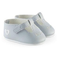 Chaussures babies grises pour poupons 36 cm