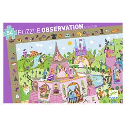 Puzzle d'observation 54 pièces princesses