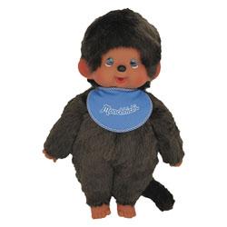 Peluche Monchhichi garçon bleu 45 cm