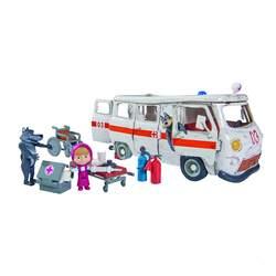 Masha et michka - ensemble de poupée - l'ambulance + figurines et accessoires
