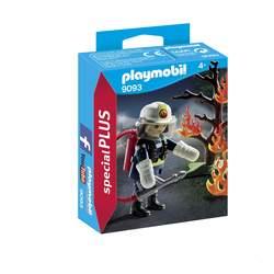 9093 - Pompier avec arbre en feu Playmobil City Action