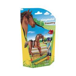 9259-Ecuyère avec cheval Playmobil