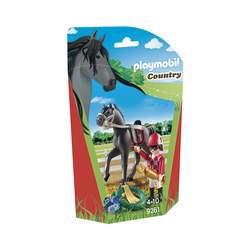 9261-Figurine Jockey avec cheval de course