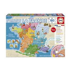 Puzzle 150 Pièces France Régions et Départements